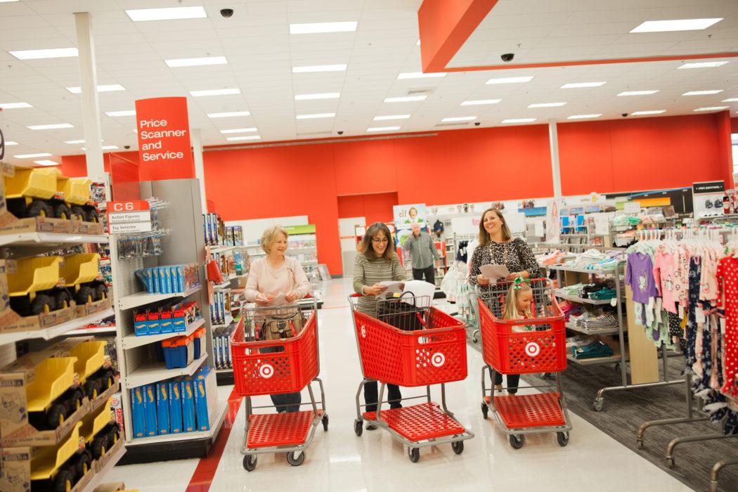 Photo of Sue Collver, Michelle Sammons and Melissa Wychocki at Target